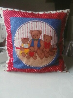 Teddy Family cushion cover