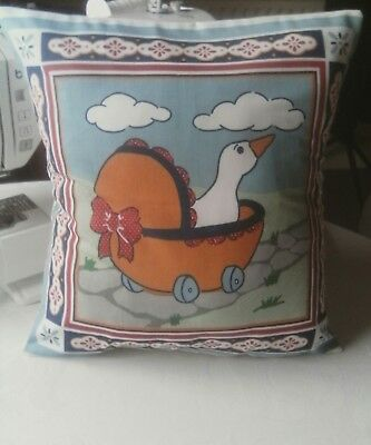 Duck in Pram cushion cover