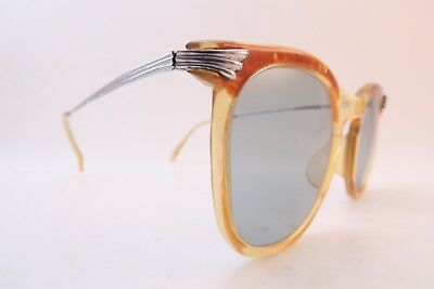 Vintage 40s sunglasses with steel sides made in Germany women's small SMART