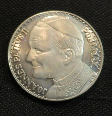 Pope John Paul the second silver coin