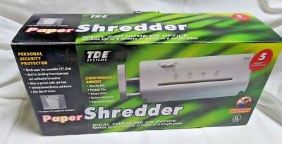 Paper Shredder by TDE Systems NEW IN BOX