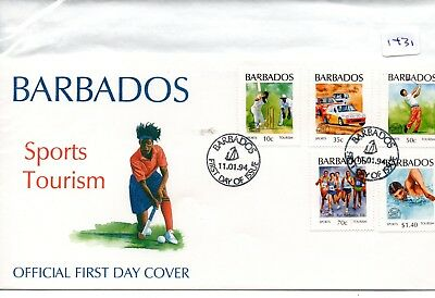 Barbados - First Day Cover - Fdc - (1431)- Specials -1994 - Sports Tourism
