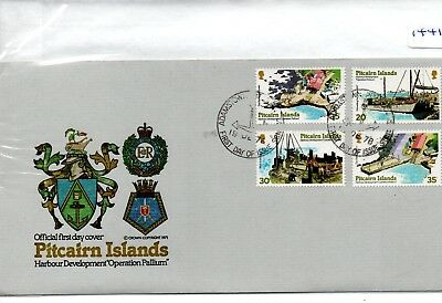 Pitcairn Islands - First Day Cover - Fdc - (1441)- Specials -1978 -  Harbour Dev