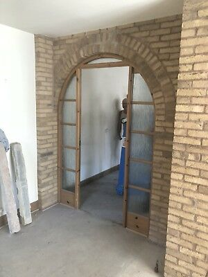 Pine Glazed Arched Door Frame