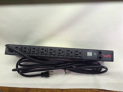 APC AP7900 Switched Rack PDU, 1U, 12A, 100/120V, (8)5-15 New In The Box Tested
