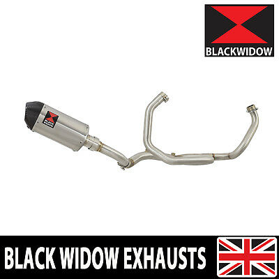 SV650 2016/18 De Cat Race Collector Exhaust Stainless Silencer Carbon Tip 200ST