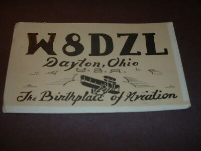 """DAYTON, OHIO """"The Birthplace of Aviation""""- E8DZL- COLEMAN SNEKELY- 1967- QSL"""