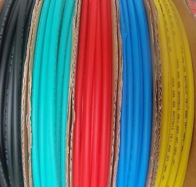 "5' LENGTH HEAT SHRINK TUBING 1/4"" 6mm 5 COLORS 1 FOOT EACH"
