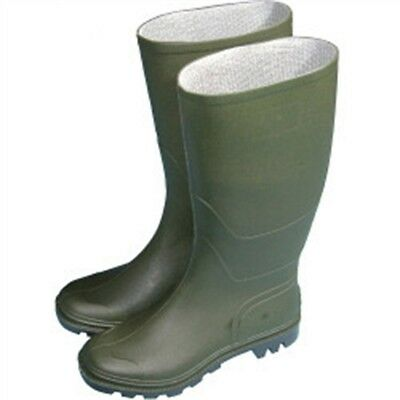 Town & Country Essentials Full Length Wellington Boots - Green, Uk Size 4 -