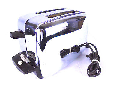 Awesome Rare Vtg Midcentury Mod Sunbeam T-10A Pop Up Electric Toaster Working