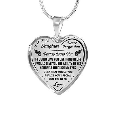 Proud Daughter Gift Inspirational Novelty Luxury Necklace from Daddy Dad Father
