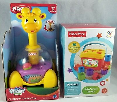 Fisher-Price Baby`s First Blocks & Playskool Poppin Park Giraffalaff Tumble Top