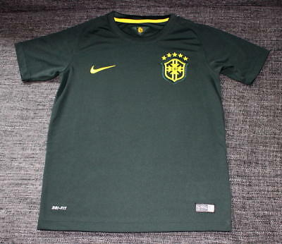NIKE BRASILIEN TRIKOT Kinder Boys Kids M medium 10 12Y WM 140 146 148 Brazil WM
