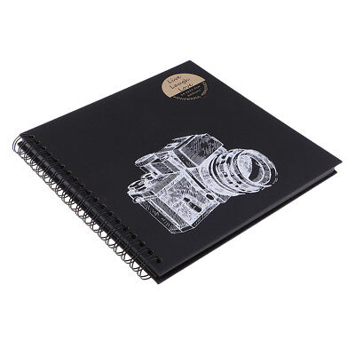 20 Pages Ring Binder Scrapbook Family Memory Photo Album Black 245x245mm