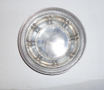 """vintage sterling silver bowl 8"""" 5 oz scrap or use candy dish? look"""