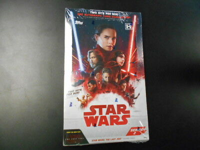 2018 Topps Star Wars The Last Jedi Series 2 Unopened Hobby Box Trading Cards *