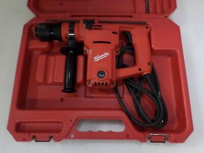 "Heavy Duty Milwaukee Hawk 1"" Rotary Hammer Drill  5362-1 With Case"