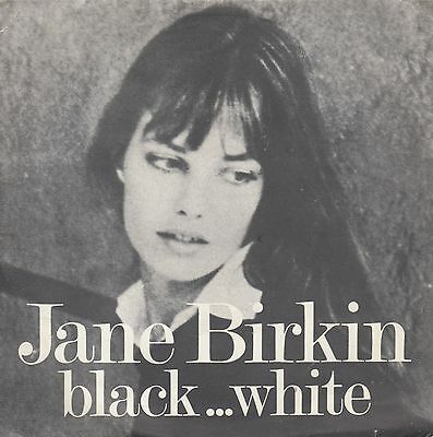 "JANE BIRKIN-BLACK & WHITE scotch whisky-RARE ORIGINAL FRENCH PS 7"" 45rpm 1980"