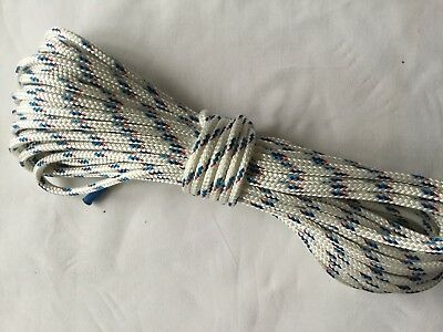 1/4 x 78 Sta-Set fleck New England Double Braid Polyester Sail Rigging  Made USA