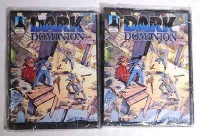 ESZ7647 Lot of 2 Dark Dominion 0 ISSUE CARD COLLECTOR ALBUM Defiant 1993 SEALED