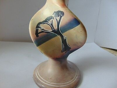 Hand made- Decorated Tree & Okapi African Candle stick Holder