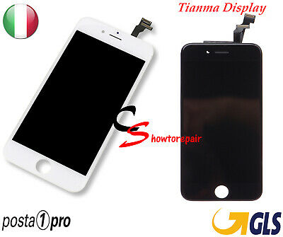Touch Screen Vetro Lcd Display Retina Tianma Schermo Frame Per Apple Iphone 6 6G
