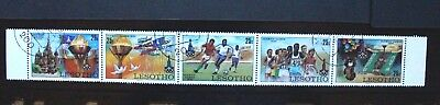 LESOTHO 1980 Moscow Olympic Games. Strip of 5. USED. SG392/396.