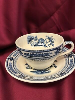 Vintage Mason's Blue Manchu Oversized Cup and Saucer