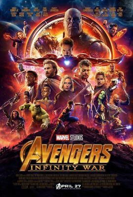 Marvel Avengers 3 Infinity War ORIGINAL Double Sided DS Movie Poster 27x40