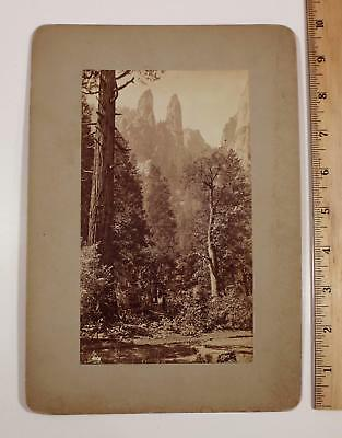 Antique Western George Fiske Landscape Photograph, Cathedral Spires, NR