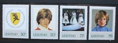 LESOTHO 1982 21st Birthday Diana. Set of 4. Mint Never Hinged. SG514/517.