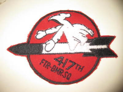 VINTAGE 417th FIGHTER BOMBER SQUADRON patch 1950's usa made