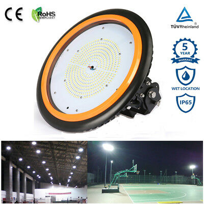 150W 200W LED UFO Hallenleuchte Industrielampe High Bay Fluter Strahler IP65 TUV