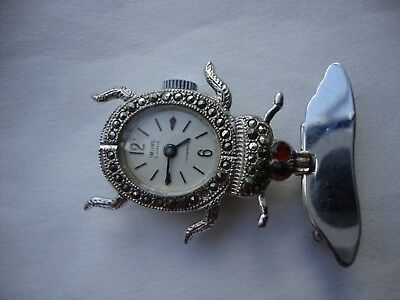 The Beatles Beetle Marcasite fob watch brooch Smiths 1960s