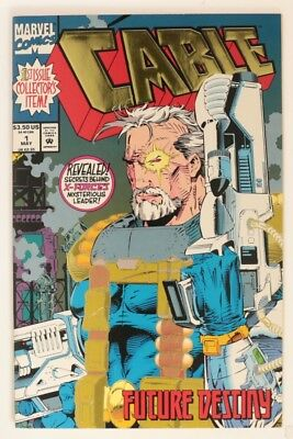 ESZ7738 CABLE #1 Marvel Comics 9.2 NM- (1993) Gold Foil and Embossed Cover `