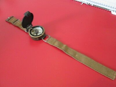 VINTAGE   MILITARY WRIST BAND  COMPASS  w/ Air Force members name   #13