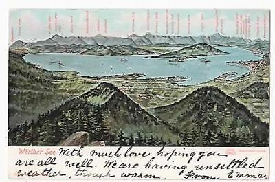 VINTAGE POSTCARD,WORTHER SEE,MAP, GEOGRAPHICAL, LOUIS GLASER, c1910