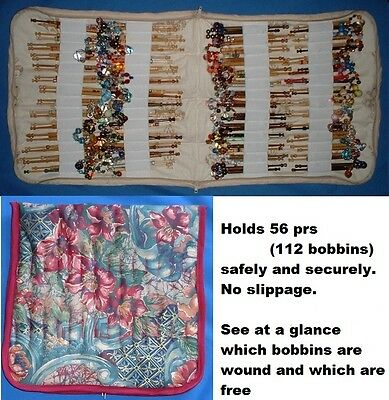No. 1  PADDED ZIP BOBBIN BAG HOLDS 56 PRS SAFELY AND SECURELY