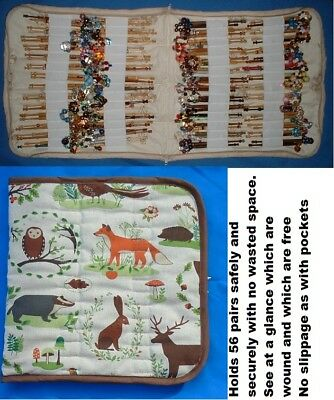Padded Zip Bobbin Bag Holds 56 Prs Safely And Securely  Animals Of The Forest