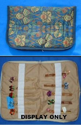 No. 5.  Small Padded Zip Bobbin Bag Holds 28 Prs Bobbins  Safely & Securely