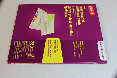 Staples Inkjet Heavyweight Business Cards 250 Cards