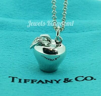 """Tiffany & Co. Sterling Silver Apple Charm with 16"""" Chain"""