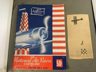 RARE 1949 National Air Races Cleveland Ohio Program