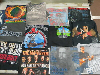 Lot Of 63 Concert T Shirts Vintage T Shirts Vintage Tees Rock Pop Country Metal