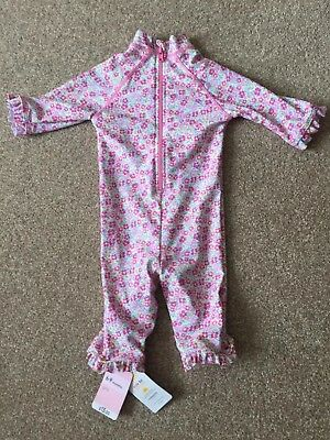 Mothercare Baby Girl Full Swim Suit Costume Pink 6-9 Months BNWT
