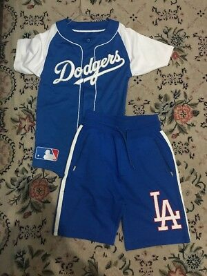 Majestic Dodgers LA Jersey Shorts Shirt Xs Men Maglia Completo Outfit DS Small S