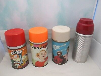 Vintage Lunch Box Thermos Lot Monkees, Family Affair, Steve Canyon +