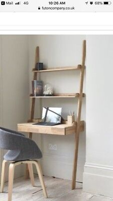 Futon Company Oak Ladder Desk With Shelves