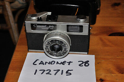 Canon Canonet 28 1:2.8/40mm 35mm Camera with Case - Minor Cosmetic Damage