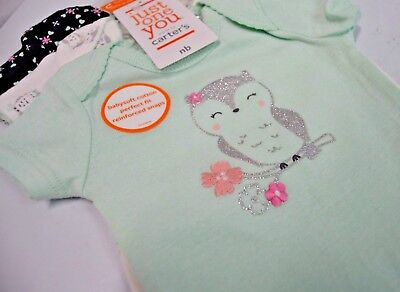 4fa696715 JUST ONE YOU Made By Carter's Baby Girl Bodysuit 3 Pack Owl Design ...
